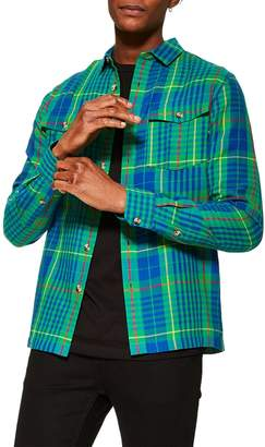 Topman Check Casual Shirt Jacket