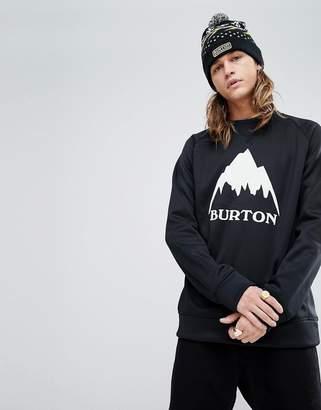 Burton Snowboards Bonded Crew Neck Sweatshirt In Black