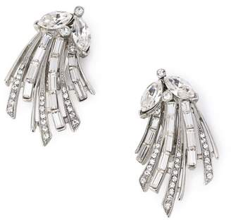 Ben-Amun (ペン アムン) - BEN-AMUN Silver crystal left and right deco CLIP earrings