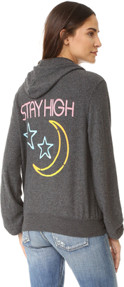 Wildfox Stay High Zip Up Hoodie $118 thestylecure.com