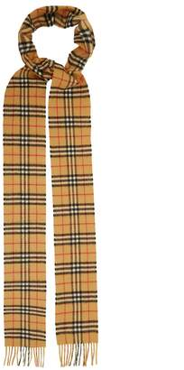 Burberry Classic skinny vintage check cashmere scarf