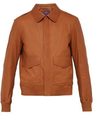 Ralph Lauren Purple Label Henfield Leather Jacket - Mens - Brown