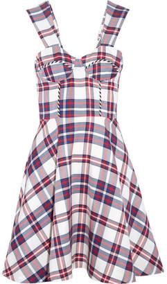 House of Holland Tartan Twill Mini Dress - Red