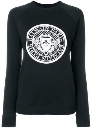 Balmain printed logo sweatshirt