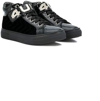 Cesare Paciotti 4Us Kids TEEN chevron stitch sneakers