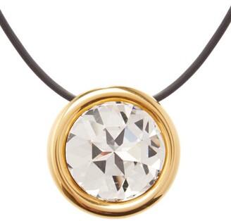 Balenciaga Dallas Crystal Pendant Necklace - Womens - Black