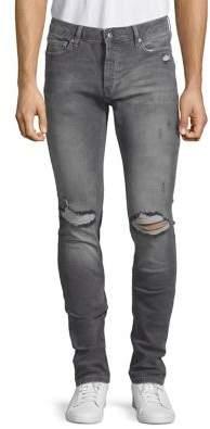 Topman 36-Inch Leg Ripped Skinny Jeans