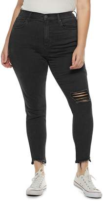 8862139baf4cd Mudd Juniors' Plus Size High Rise Ankle Jeggings