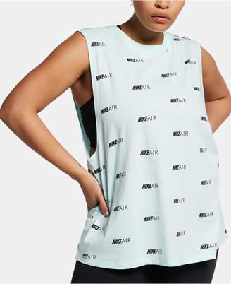 Nike Plus Size Cotton Logo-Print Muscle Tank Top
