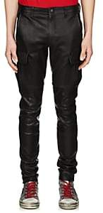 Amiri Men's Leather Skinny Cargo Pants - Black