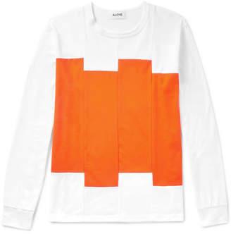 Aloye Panelled Cotton-Jersey T-Shirt