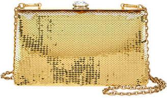 Miu Miu Sequin and Crystal Clutch Bag, Gold