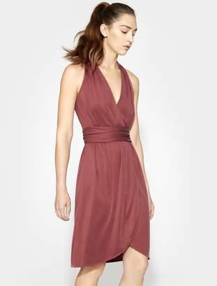 Halston Halter Belted Wrap Dress