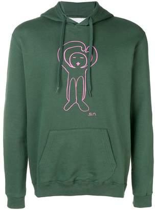 Societe Anonyme logo printed hoodie