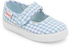 Cienta Baby's, Toddler's& Kid's Gingham Checked Mary Jane Flats