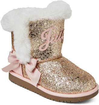 Juicy Couture Toddler Girls) Gold-Tone & Pink Lil Windsor Boots