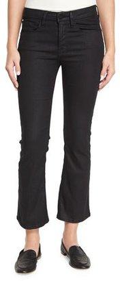 FRAME Le Crop Mini Boot-Cut Coated Jeans, Carter $239 thestylecure.com
