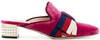 ca5db041174 Free Shipping at Farfetch · Gucci GG Web crystal heel mules