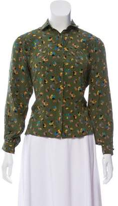 Christian Dior Printed Silk Blouse