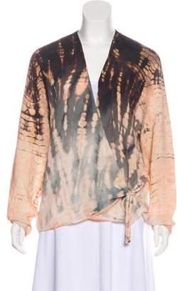 Raquel Allegra Printed Silk top