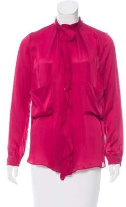 Schumacher Silk Button-Up Blouse