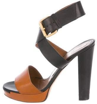 8b0b7d158b49 Fendi Bi-Color Platform Sandals