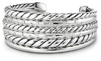 David Yurman Pure Form Cuff Bracelet with Diamonds