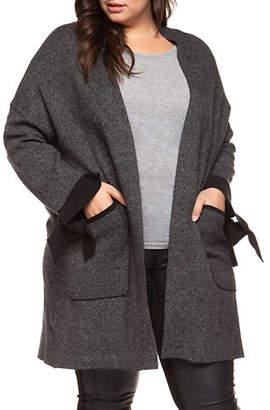 Dex Plus Long Sleeve Open Front Cardigan
