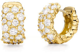 Paul Morelli 18K Gold Large Diamond Confetti Huggie Earrings