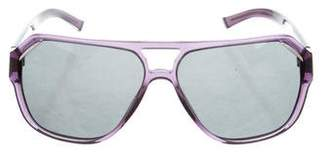 Dolce & Gabbana Tinted Shield Sunglasses