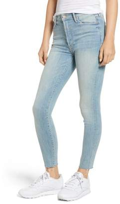 Mother The Stunner Frayed Ankle Skinny Jeans (Tinge)