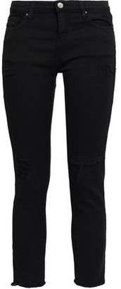IRO Cropped Distressed Mid-rise Slim-leg Jeans
