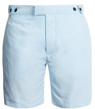 Frescobol Carioca - Tailored Swim Shorts - Mens - Light Blue