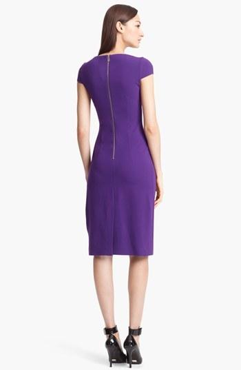 Michael Kors Draped Jersey Sheath Dress