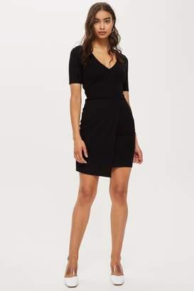 Topshop TALL V-Neck Wrap Dress