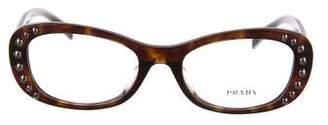 Prada Studded Round Eyeglasses