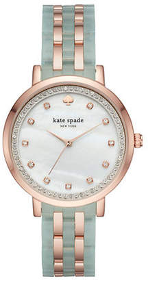 Kate Spade Two-Tone Five-Link Monterey Watch