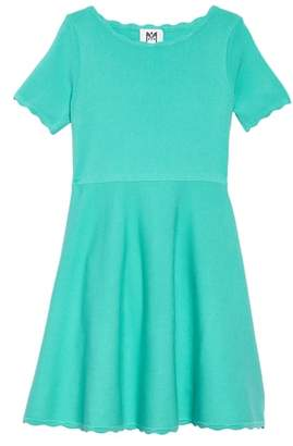 Milly Minis Scallop Edge Fit & Flare Dress
