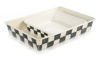 "Mackenzie Childs Courtly Check Baking Pan, 8"" Square"