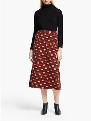 People Tree V&A Daisy Skirt, Red