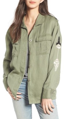 Women's Rails Elliott Embroidered Utility Jacket $235 thestylecure.com