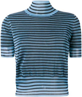 Fendi striped turtle neck sweater