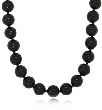 """ISAAC WESTMAN® ISAAC WESTMAN 10mm Polished Black Onyx Bead Necklace 