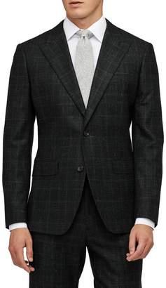 Bonobos Premium Slim Fit Glen Plaid Wool & Linen Sport Coat