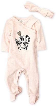 Jessica Simpson Newborn Girls) Two-Piece Wild Child Footie & Headband Set