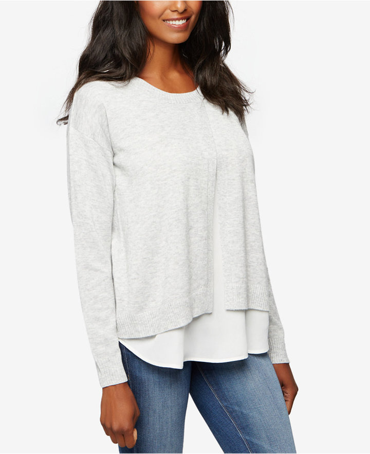 A Pea In The PodA Pea In The Pod Maternity Layered-Look Sweater