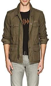 John Varvatos Men's Embroidered Cotton Ripstop Field Jacket - Olive