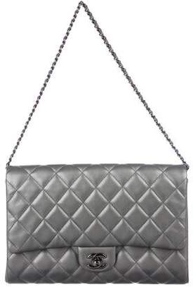 b56953d1a59000 Chanel Gray Quilted Leather Handbags - ShopStyle