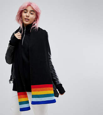 E.L.K Knitted Scarf With Rainbow Detail