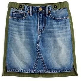 Habitual Girls' Cassia Mixed-Fabric Skirt - Little Kid, Big Kid